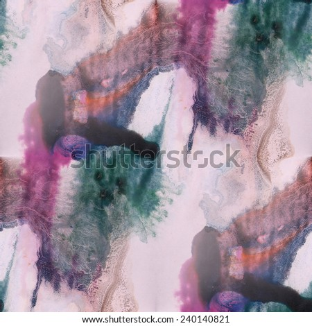 paint green, purple, black ink stain watercolour blob spot brush watercolor abstract background texture seamless