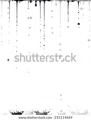 Paint in a white background - stock photo