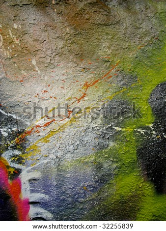 paint on a wall - stock photo