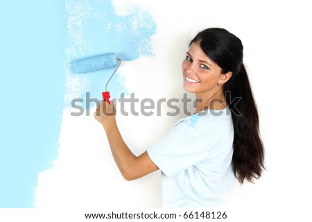 paint on the wall - stock photo