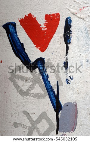paint  on wall
