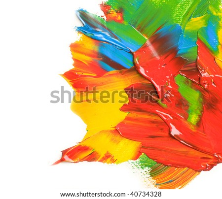 Paint over White - stock photo