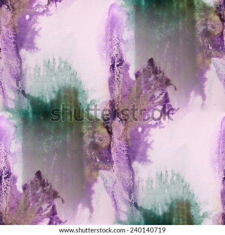 paint purple, green ink stain watercolour blob spot brush watercolor abstract background texture  seamless