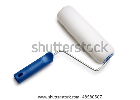 paint roller - stock photo
