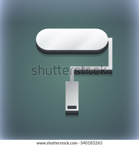 Paint roller icon symbol. 3D style. Trendy, modern design with space for your text illustration. Raster version - stock photo