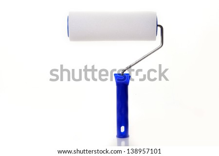 paint roller isolated   - stock photo