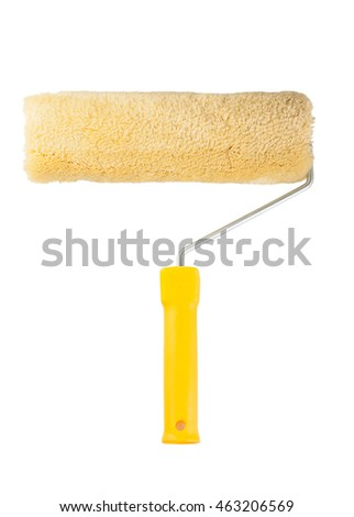Paint roller isolated on a white background
