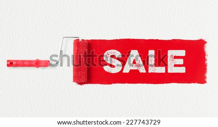 Paint roller showing sale - stock photo