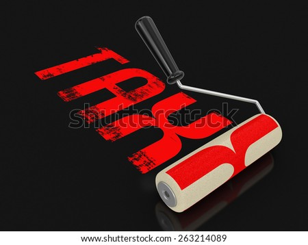 Paint roller with Tax (clipping path included) - stock photo