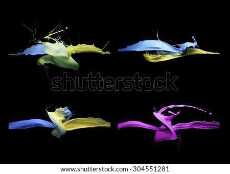 Paint Splash collection - stock photo