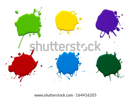 paint splash isolated on white . photo - stock photo