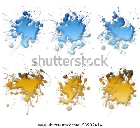 Paint Splats - stock photo