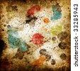Paint Splatters Grunge Background - stock photo
