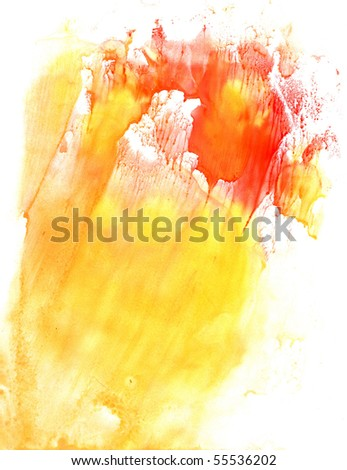 Paint stain - stock photo