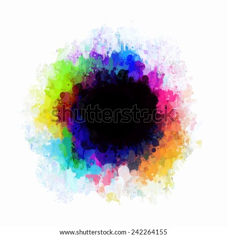 Paint stains colorful circle  - stock photo