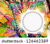 paint stains frame. raster - stock photo