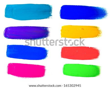 paint strokes - stock photo