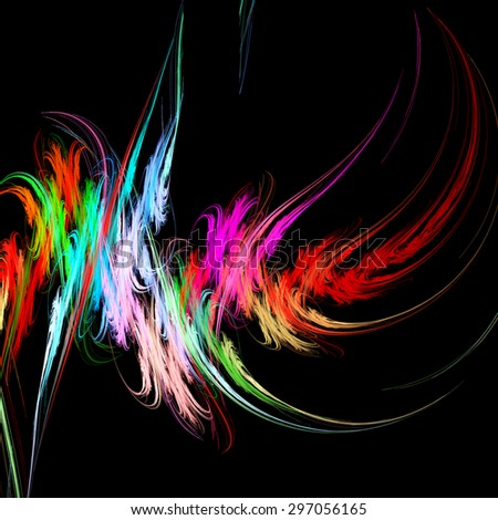Paint strokes. Abstract. Illustration. Fractal Wallpaper on your desktop.