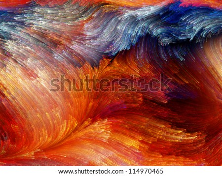 Paint Swirls Series. Abstract design made of streaks of digital color on the subject of art, design and creativity