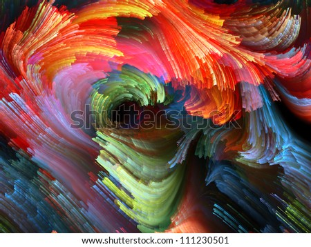 Paint Swirls Series. Composition of streaks of digital color on the subject of art, design and creativity