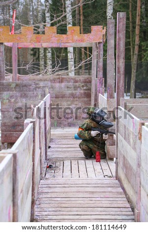 Paintball fort siege - stock photo