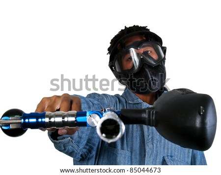 Paintball Player - stock photo