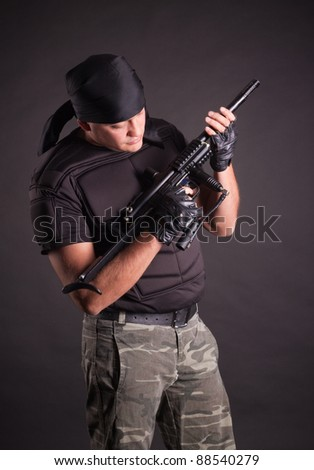 paintball, studio shot, isolated in black