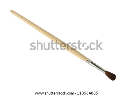 Paintbrush on a white background