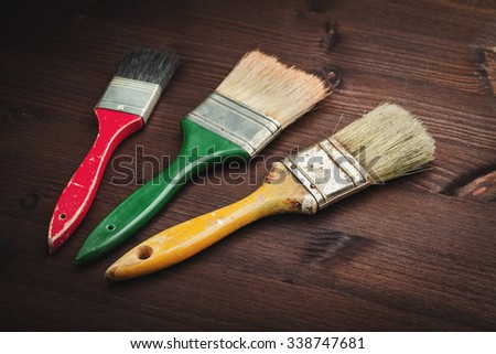 paintbrush on wood