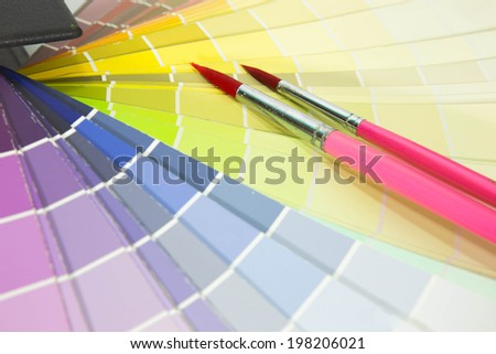 paintbrush with paper color code