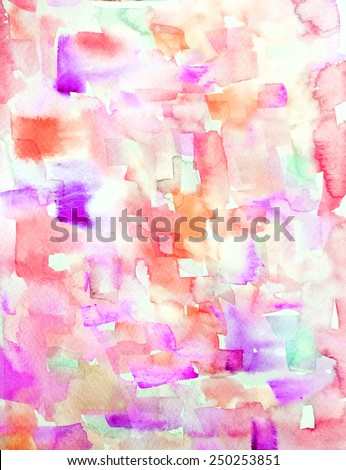 Painted Art Background. Abstract Watercolor Art Background. Watercolor Artwork. - stock photo