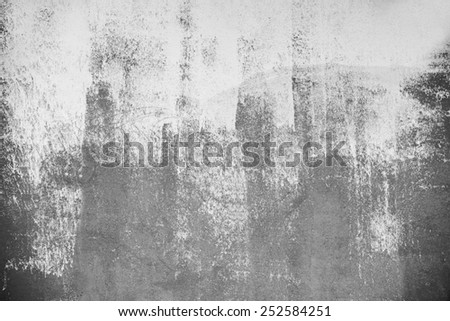 Painted black and white on the wall - stock photo