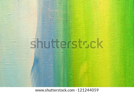 painted canvas - stock photo