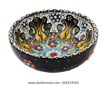 painted ceramic saucer