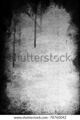 painted color on grunge background - stock photo