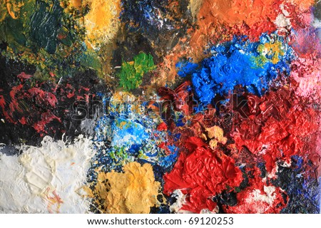Painted colorful grunge background. - stock photo