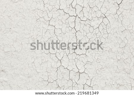 painted cracked wall texture - stock photo