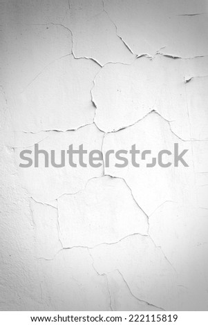 Painted cracked wall texture background - stock photo