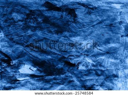 painted crumpled paper in blue - high in texture detail - stock photo