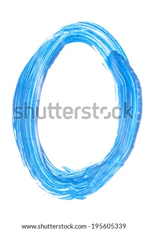 Painted digits and symbols. 6. - stock photo