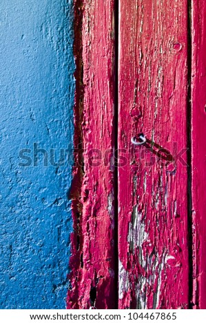 painted facade - stock photo