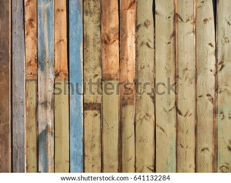 Painted Fence Light Wood Panel Background Old Vintage Planked Vertical Wooden Texture Boards Empty