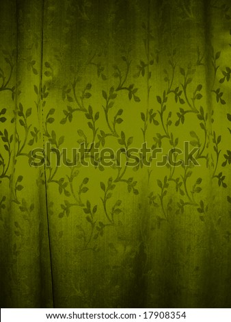 painted floral drawing, vintage draw - stock photo