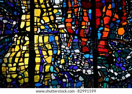 Painted glass - stock photo
