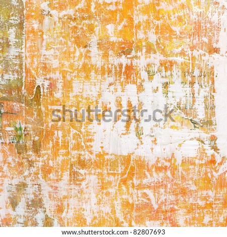 Painted grunge background. Used collage technique. - stock photo