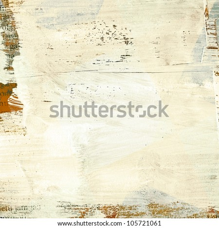 Painted grunge paper texture with space for text - stock photo