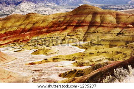 Painted Hills 4 - stock photo