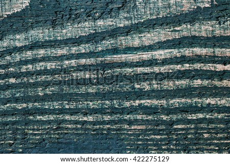 painted in green wood structure - stock photo