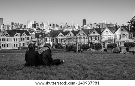 Painted Lady House San Francisco, California - stock photo
