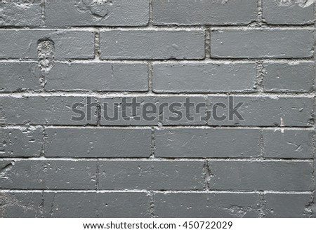 Painted old brick wall background - stock photo